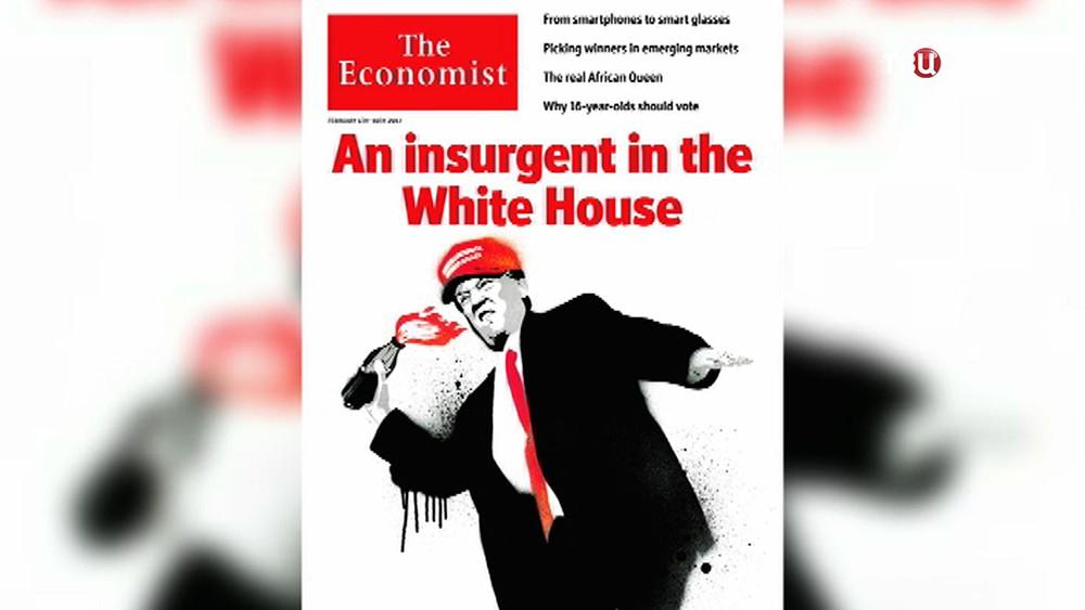 Обложка журнала The Economist с Дональдом Трампом на обложке