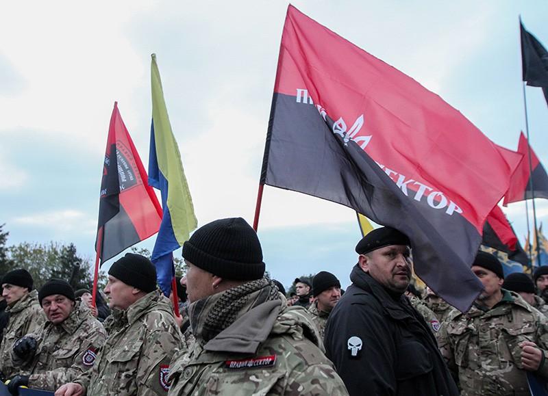 """Активисты организации """"Правый сектор"""""""