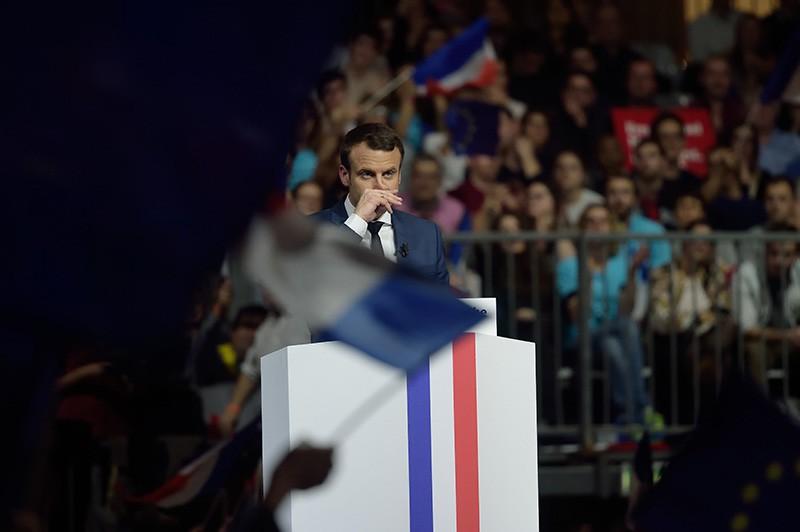 Кандидат на пост президента Франции Эммануэль Макрон