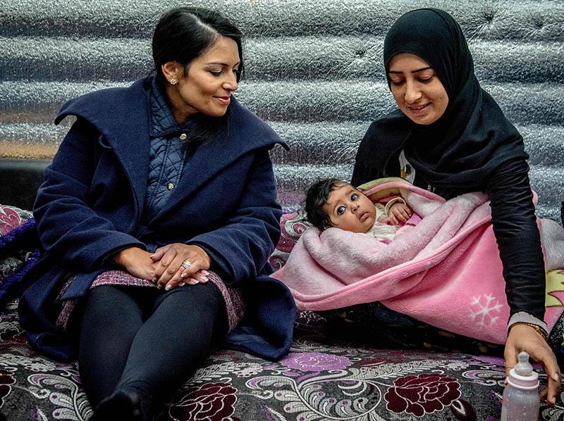 Мама с ребенком, Сирия