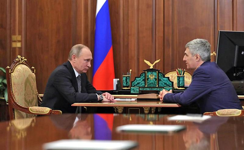 Владимир Путин с Артуром Парфёнчиковым