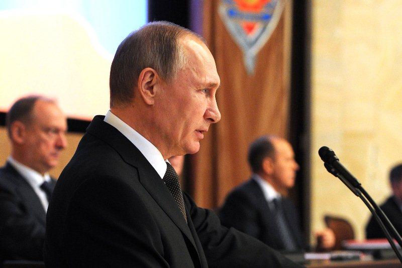 Владимир Путин на заседании коллегии ФСБ