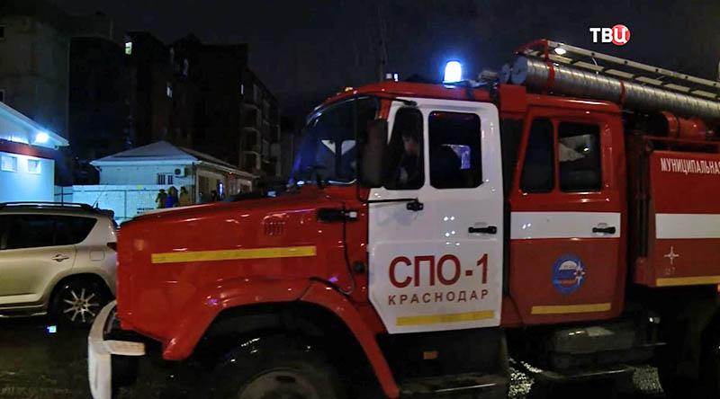 Пожар жилого дома в Краснодаре