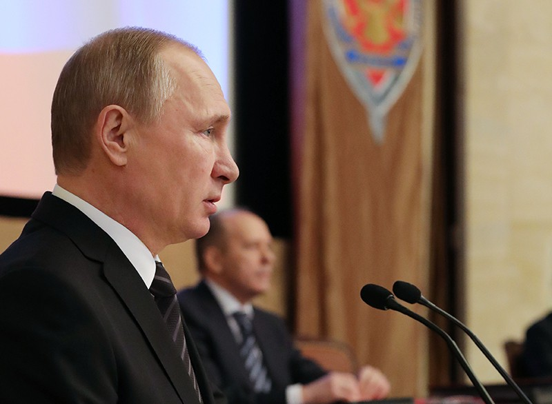 Президент России Владимир Путин на заседании коллегии ФСБ