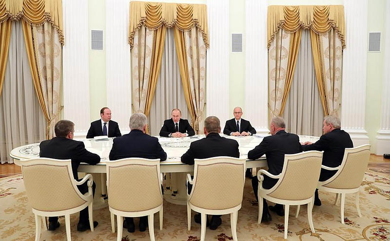 Встреча с бывшими руководителями Бурятии, Карелии, Пермского края, Новгородской и Рязанской областей