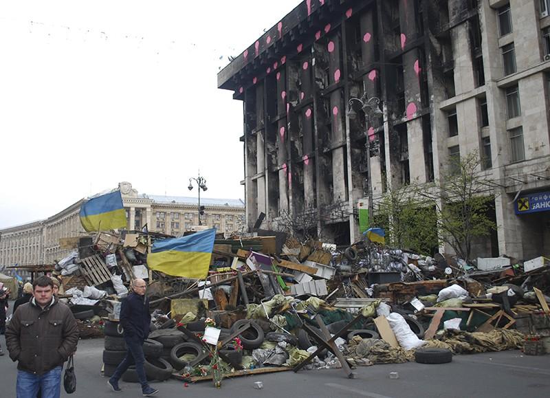 Баррикады в Киеве. Февраль 2014 г.