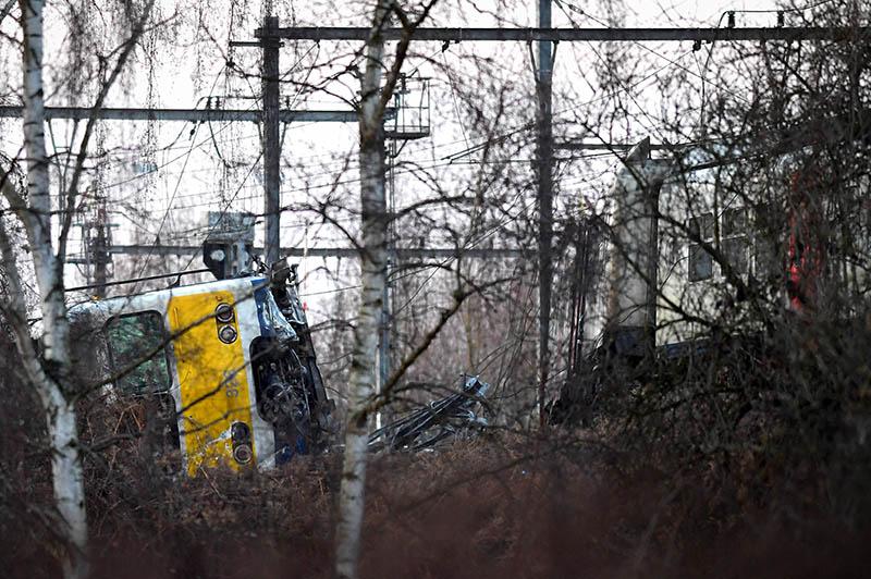 Авария поезда в Бельгии
