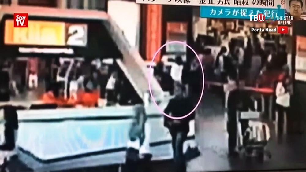 Момент нападения на Ким Чен Нама в аэропорту Малайзии