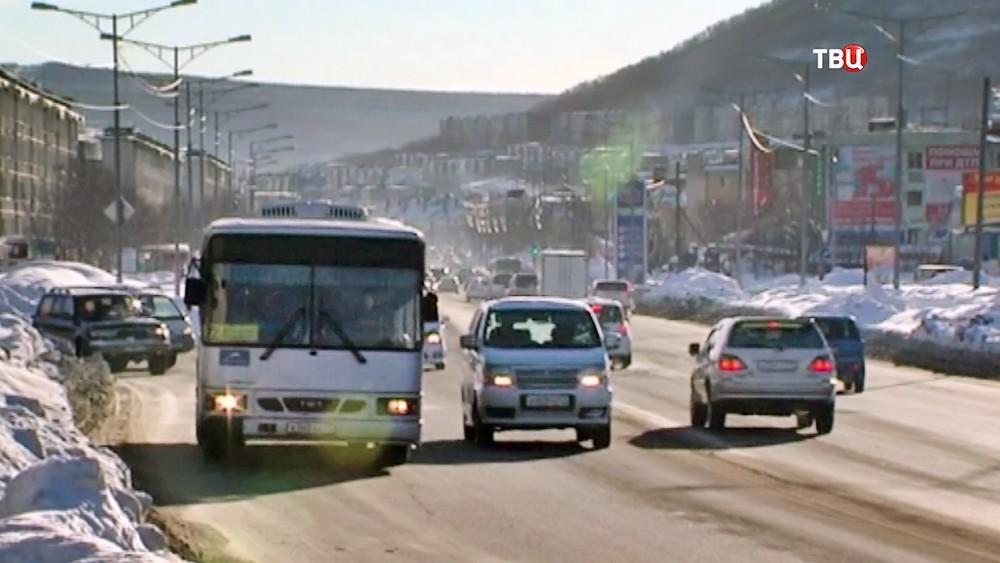 Дорожное движение на Камчатке