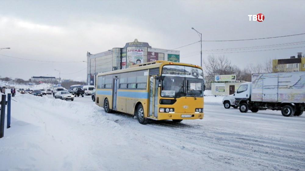 Автобус на Камчатке