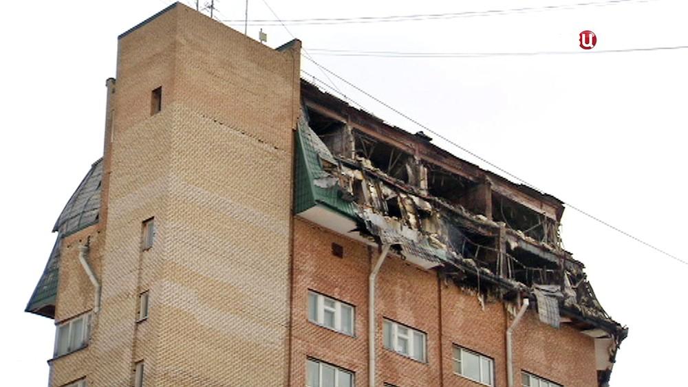 Последствия пожара в многоэтажном жилом доме