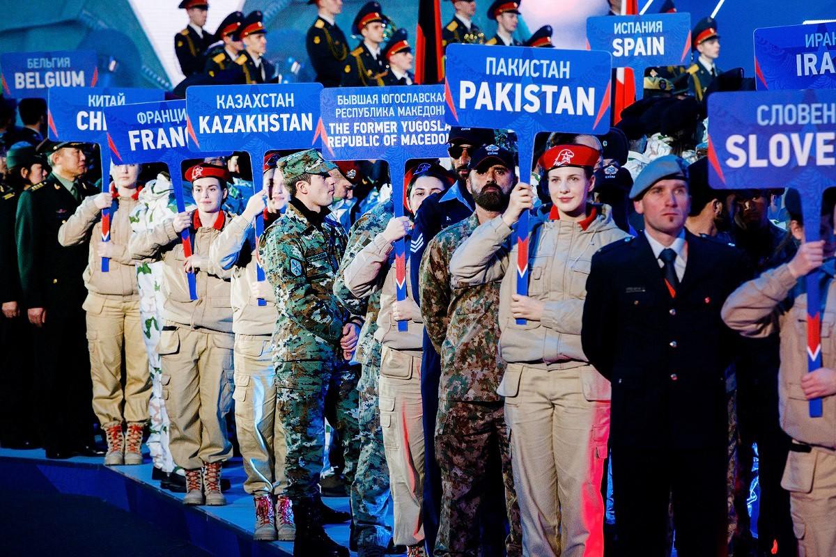 Открытие Всемирных военных игр в Сочи