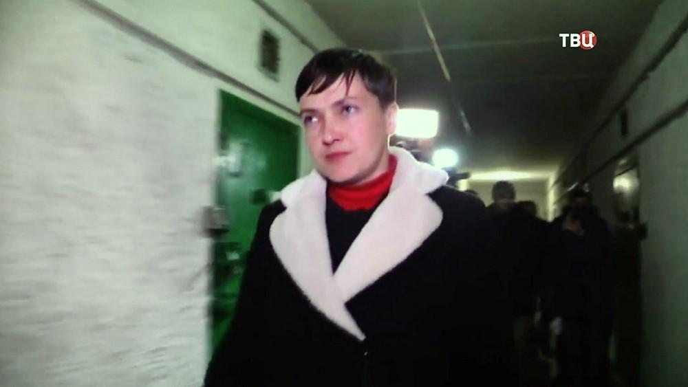 Надежда Савченко в Донбассе