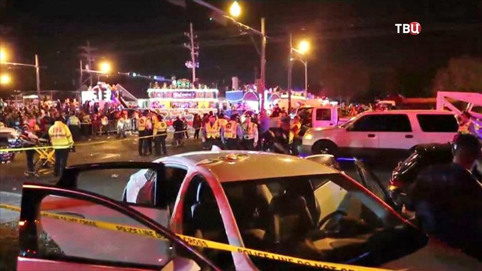 Последствия ДТП в Новом Орлеане
