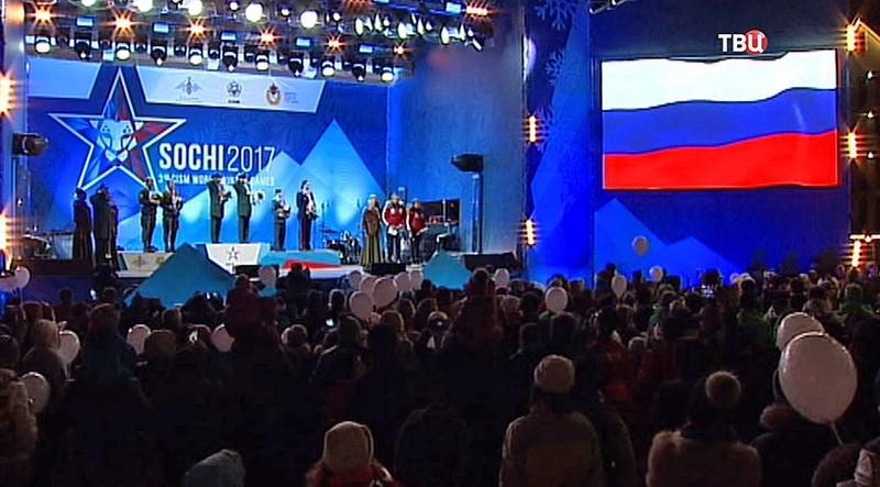Спортсмены сборной Вооруженных сил России