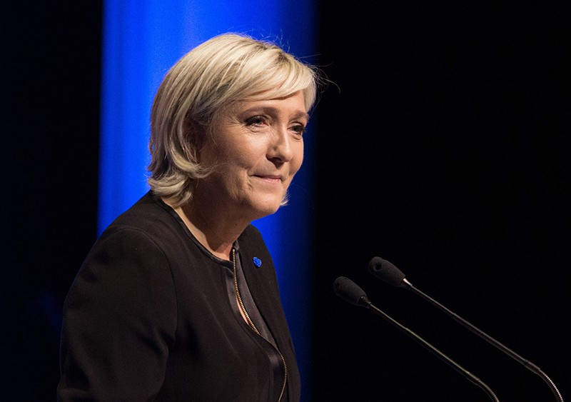 Кандидат на пост президента Франции Марин Ле Пен