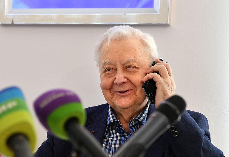Основатель и художественный руководитель Театра Олег Табаков на пресс-конференции в рамках праздновании 30-летия театра