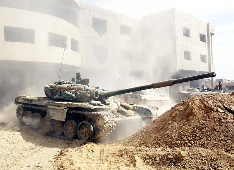 Бронетехника подразделений сирийской армии