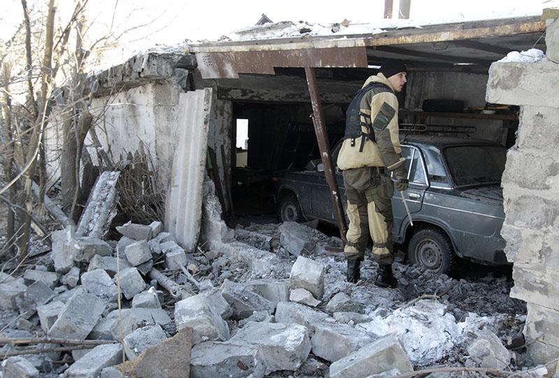 Результат обстрела жилых кварталов Донецка