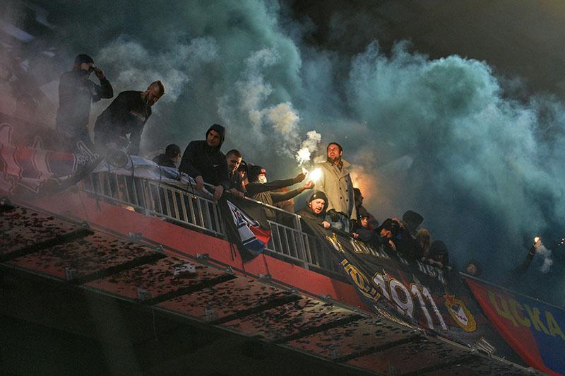 Болельщики ПФК ЦСКА