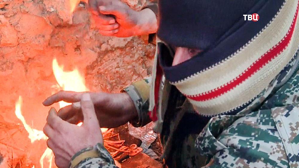 Амнистированный боевик в Сирии