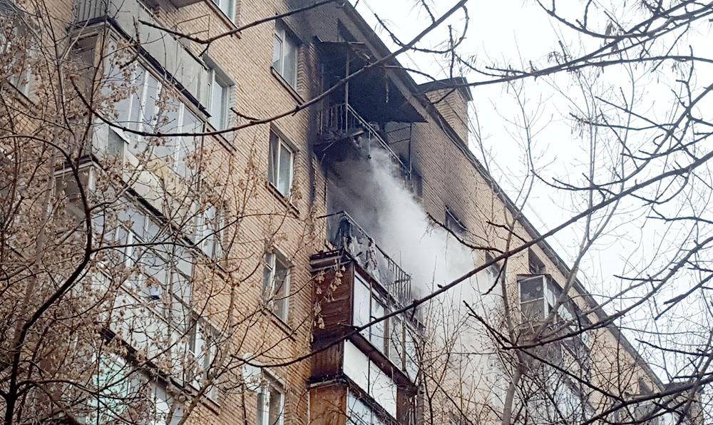 Пожар в жилом многоквартирном доме