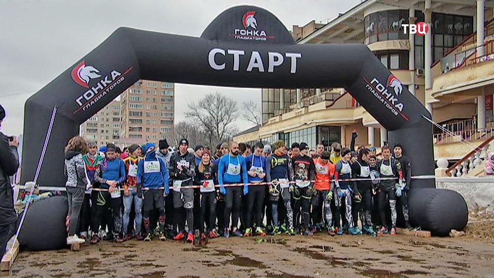 """""""Гонка гладиаторов"""" на Московском ипподроме"""