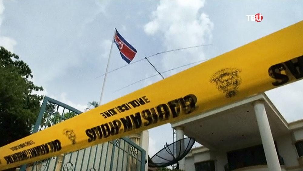 Оцепление у посольства КНДР в Малайзии