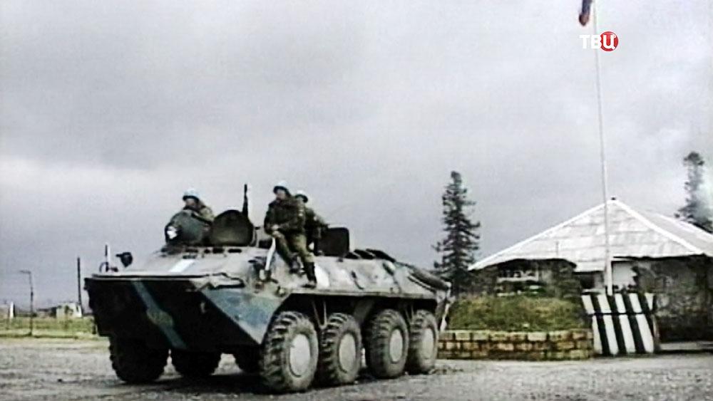 Российские миротворцы на Грузино-Осетинской границе