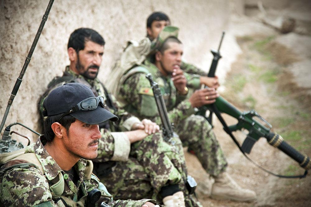 Военнослужащие армии Афганистана