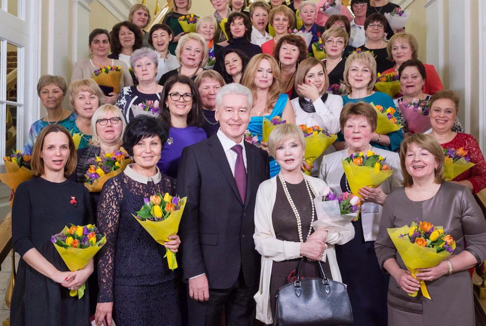 Мэр Москвы Сергей Собянин поздравил женщин с 8 Марта