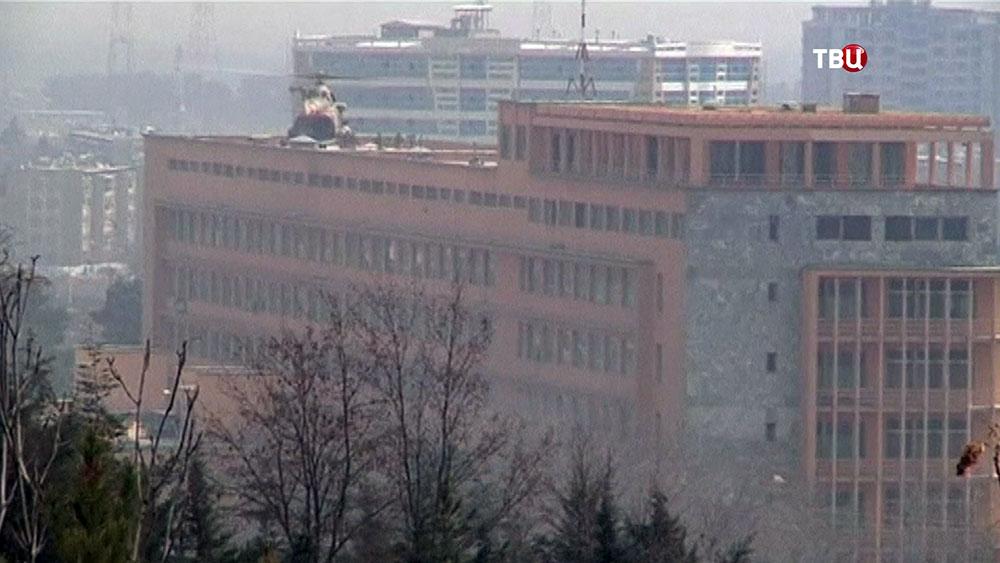 Захваченное здание госпиталя в Кабуле