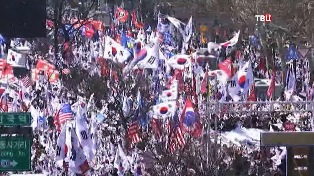 Митинг в Южной Корее