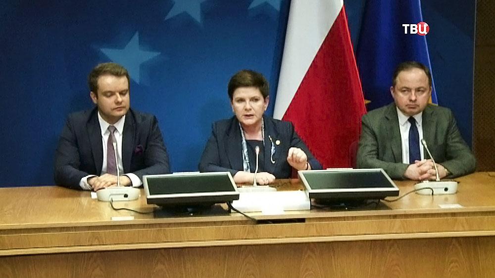 Премьер-министр Польши Беата Шидло