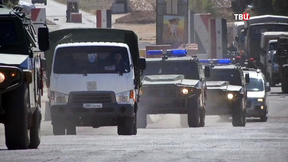 Машины военной полиции в Сирии