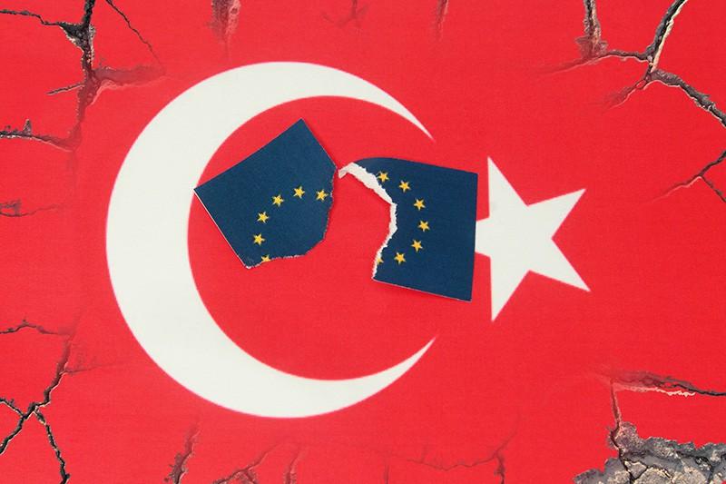 Флаг Турции и ЕС