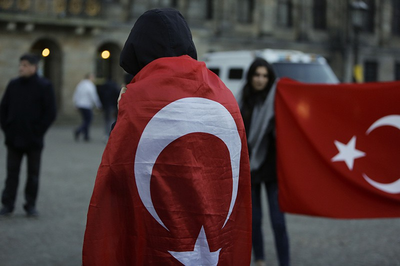 Участники акции протеста в Турции