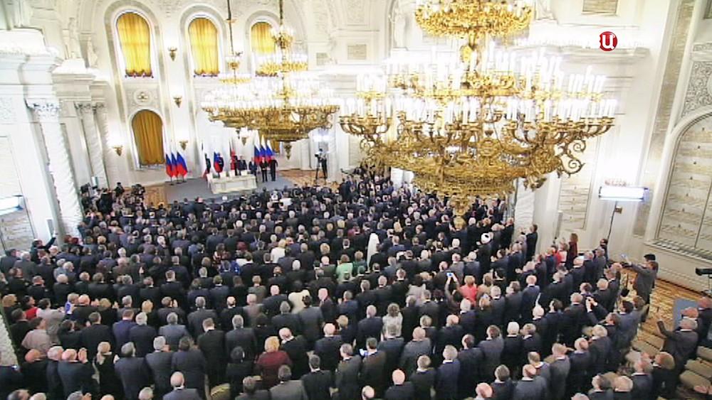 Подписание воссоединения России и Крыма
