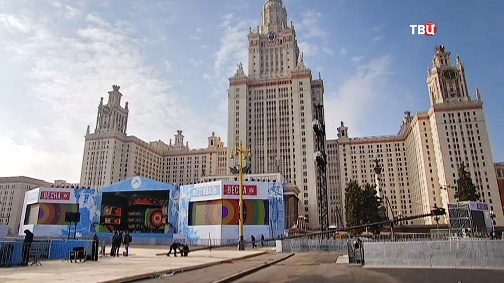"""Подготовка к фестивалю """"Весна"""", посвященному годовщине воссоединения Крыма с Россией"""