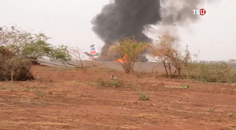 Разбившийся в Южном Судане самолет Ан-12