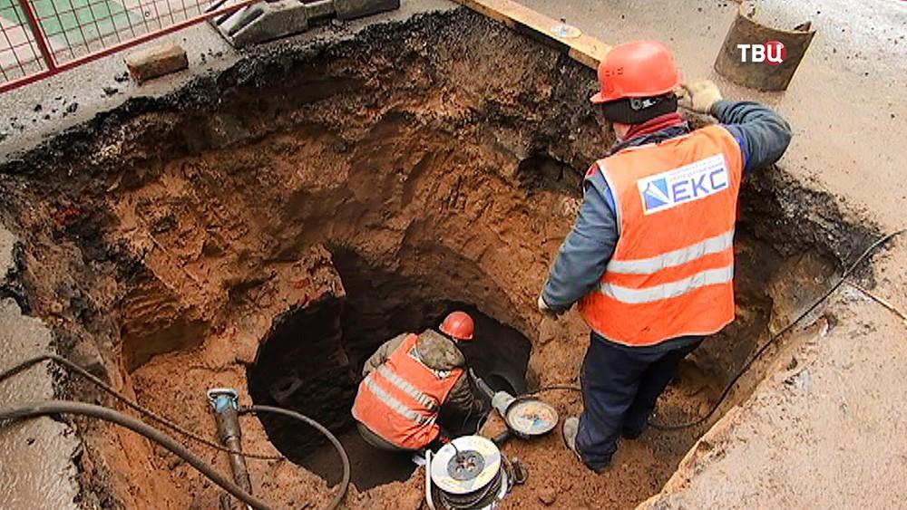 Мосводоканал проводит ремонтные работы по замене водопровода