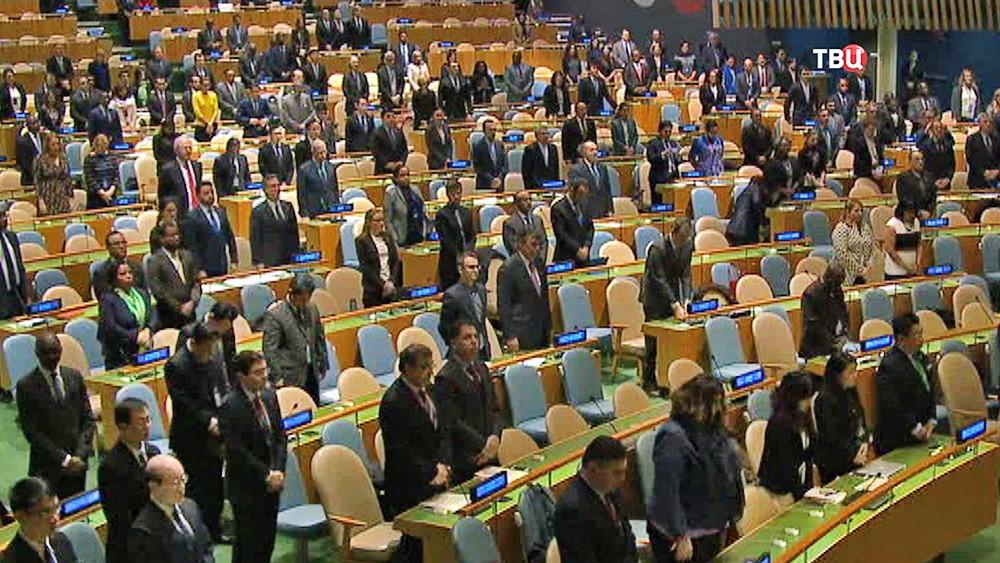 Генеральная Ассамблея ООН провела минуту молчания в память о Виталии Чуркине