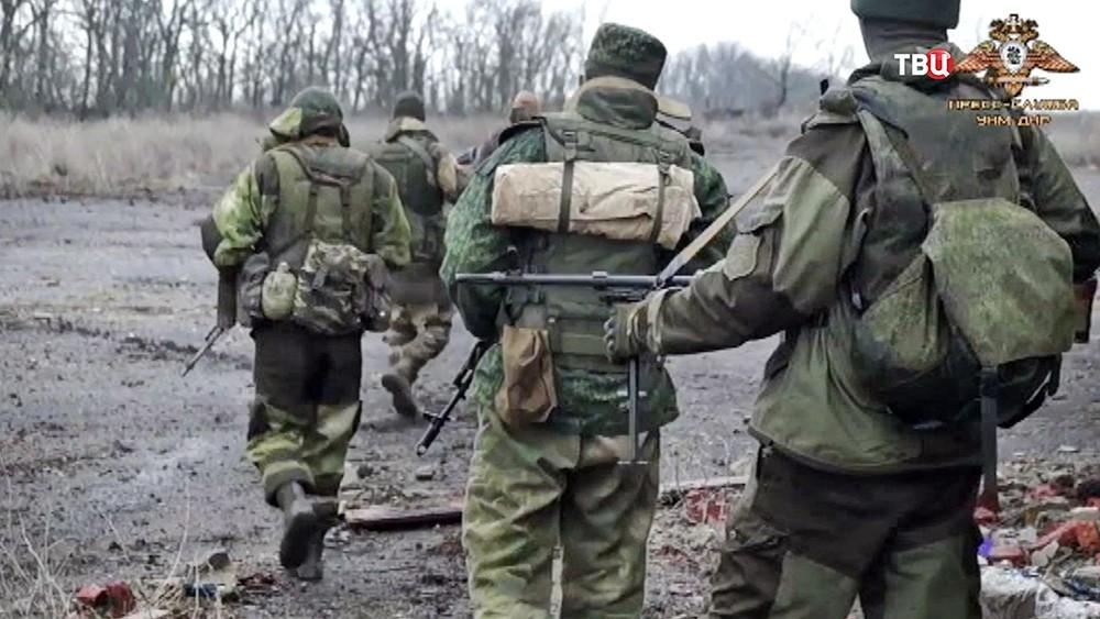Бойцы ополчения в Донбассе