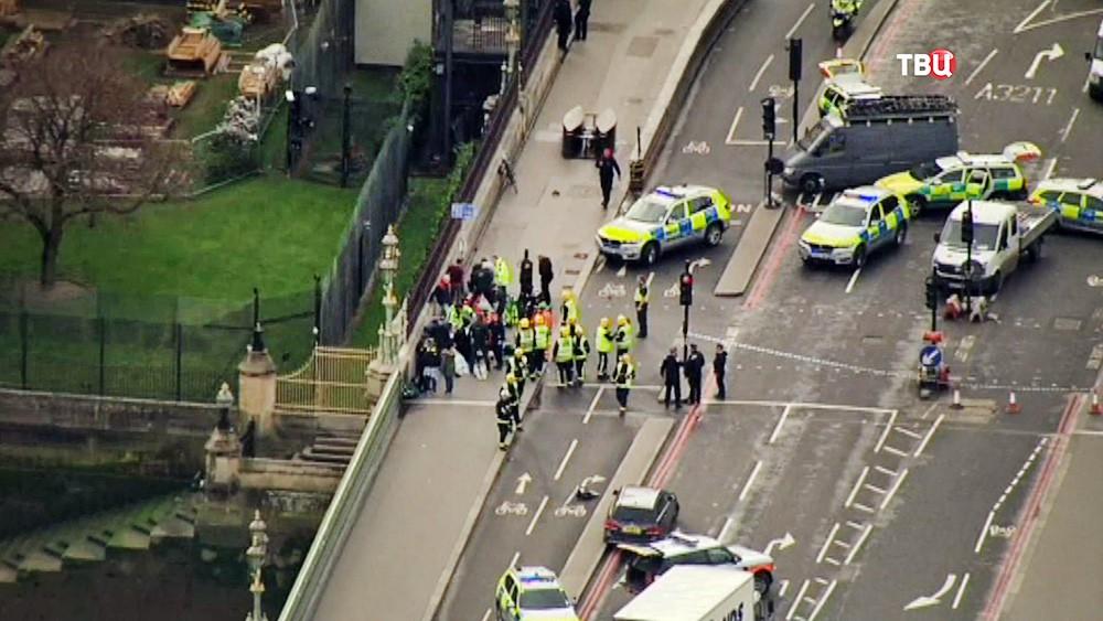 Полиция Великобритании на месте теракта в Лондоне