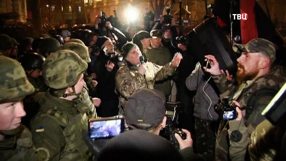 Митинг добровольческих батальонов на Украине