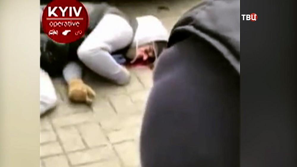 Раненный убийца Дениса Вороненкова в Киеве