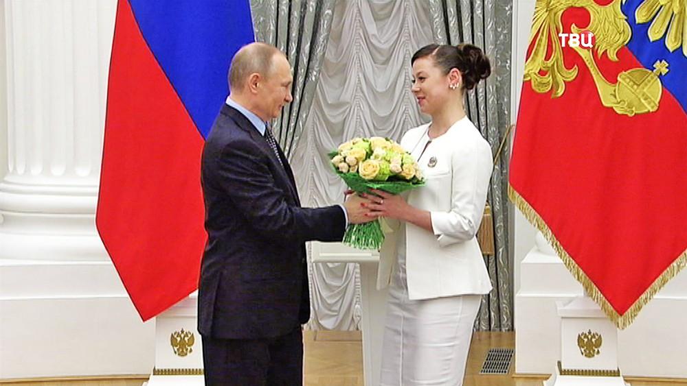 Владимир Путин вручает премии Президента молодым деятелям культуры и за произведения для детей