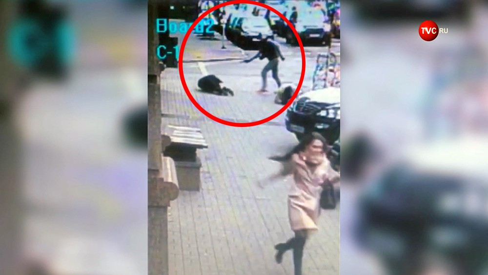 Момент убийства Дениса Вороненкова в Киеве