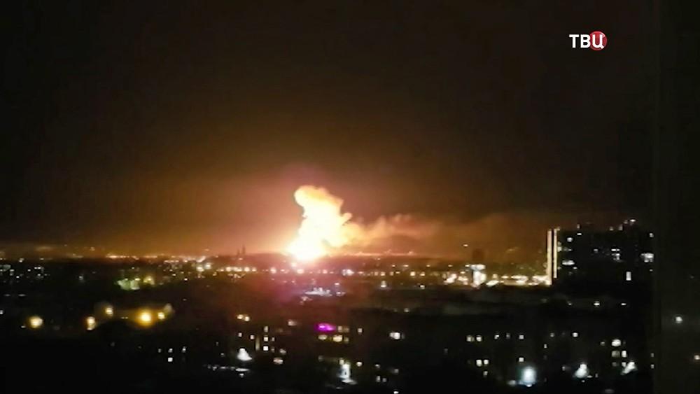 Пожар на пороховом заводе в Казани