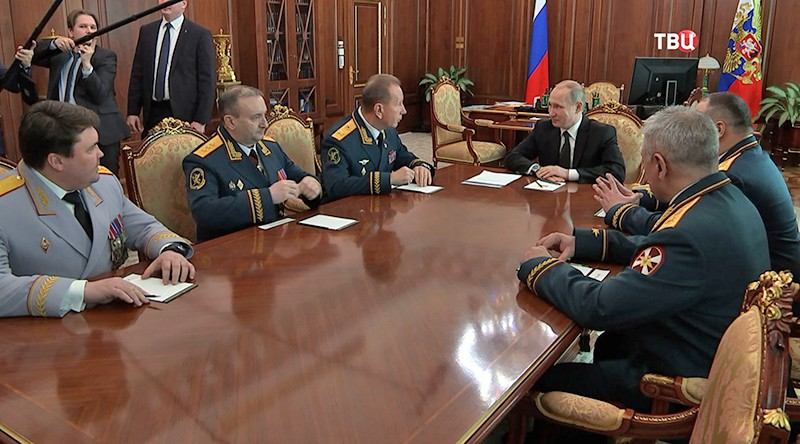 Владимир Путин на встречи с руководством Росгвардии